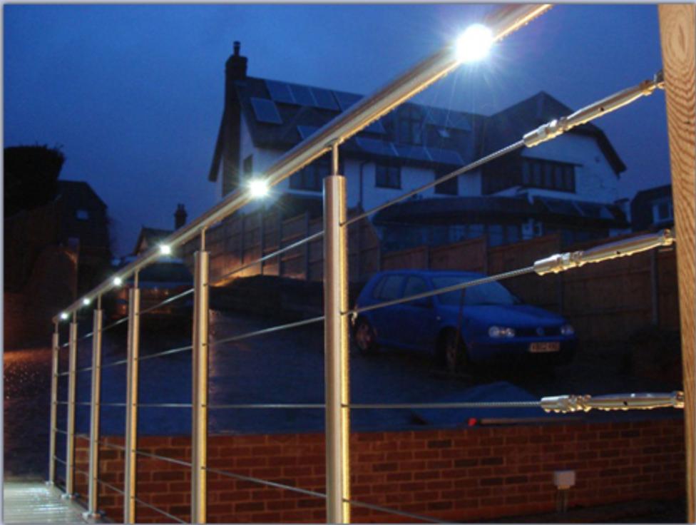 led handrails