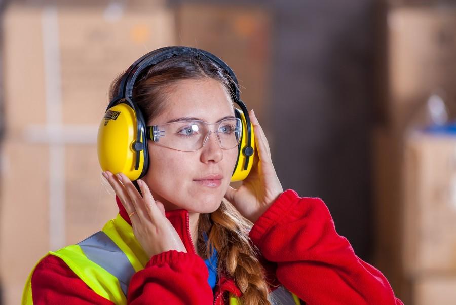 Women wearing PPE